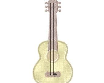 Emboidery design guitar