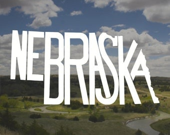 Nebraska Decal, Nebraska Sticker, Laptop Decal, Laptop Sticker, Macbook Decal