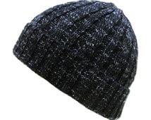 Heather Cable Knit Beanie Ski Snowboard Winter Hat Cap KBW-245 BLK