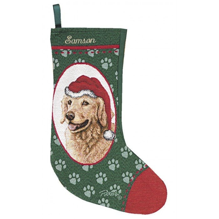 Golden Retriever Dog Personalized Christmas Stocking