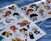 "4x6"" Studio Ghibli Sticker Sheets"
