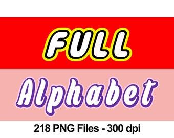 Lego + Lego Friends - Full Alphabet Clipart - 218 png files 300 dpi - 6 full alphabets
