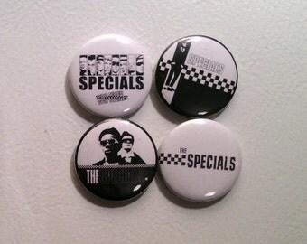 "4 x The Specials 1"" Pin Button Badges ( 2 tone ska punk rock skinhead oi )"