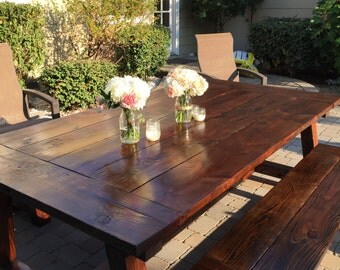 Farmhouse Table and 2 Benches