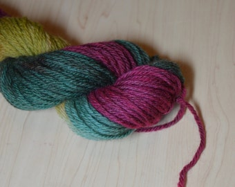 Berries - Hand Dyed - Worsted Weight Yarn - Pure Wool