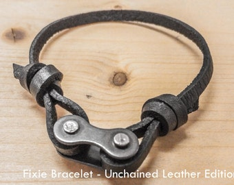 Fixie Bracelet - Unchained Leather Edition