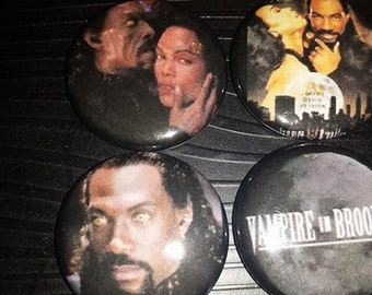 4 Pin Button set Vampire in Brooklyn 1 inch Buttons