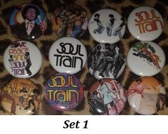 12 Pin Button set Soul Train 1 inch Buttons