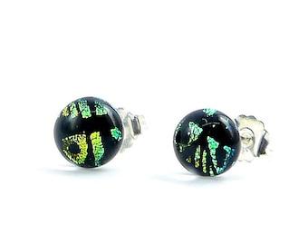 Dichroic glass earrings handmade- ARTISTA FUSCHIA - Made with love