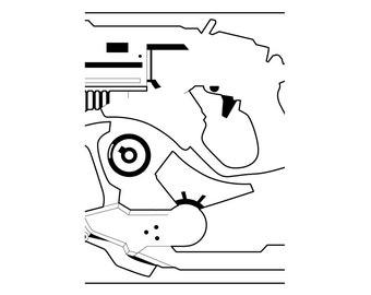 Mini Overwatch Mercy Gun Laser Cut Digital Plans