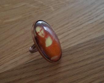 Copper-colored the Mona Lisa ring - ring Mona Lisa - Mona Lisa ring
