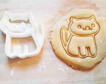 Chat cat cookie cutter kawaii birthday gateau anniversaire cake emporte pièce 3d print mignon imprimante 3D