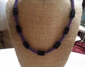 Circular Beaded peyote Necklace