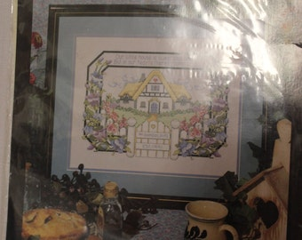 Bucilla Counted Cross Stitch Kit-Our Little House-Never Opened