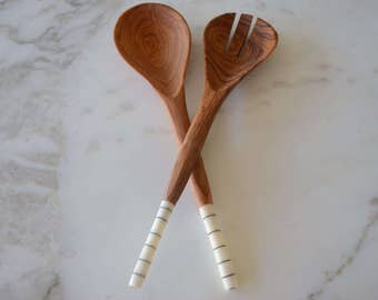 Salad Serving Spoons - African (Kenyan) Wood