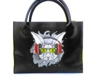 Rabbit leather bag