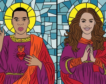 SAINT BEYONCE & JAY Z Set of prayer candles, Beyonce, Jay Z, soy candle, Beyonce lemonade, Formation, Beyhive, Bey, queen bey, beyonce gift