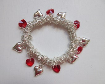 My Hearts Bleed complete charm bracelet