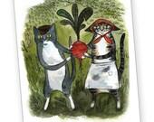 Turnip Cats Postcard