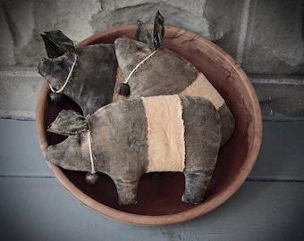 MAILED PAPER PATTERN~Dem Hogs!! Primitive Pig Bowl Fillers Sewing Pattern