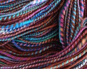 Athena's Vein - Handspun and Hand Dyed Merino 2 Ply with Coils - Wool Yarn - 3.8 oz - 230 yards