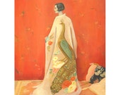 Peacock Kimono Print 11x14