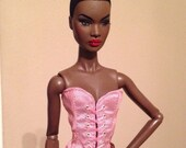 Front Lace Up Silk Corset Bustier for Nuface, Model Muse, Poppy Parker Dolls CHOICE OF 21 COLORS!