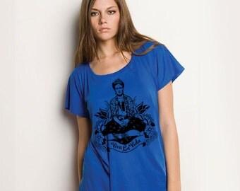 Frida Viva La Vida Lightweight Flowy Shirt