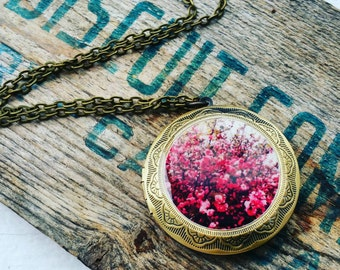 Bursting Blossoms Locket Necklace
