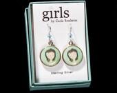 Brunette Girl Earrings