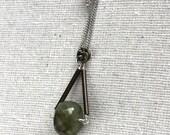 Amethyst Barrel Pivot necklace