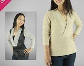 Irena Knit Top Digital Sewing Pattern for Women (PDF)