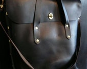 Custom black and navy diplomat tote (reserved for harmony)