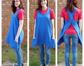 Custom linen apron or pinafore for artists, makers, gardeners and bakers