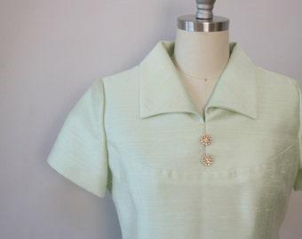Jackie O mint shift dress vintage