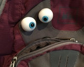 Two Eyeball pins, fun backpack accessory, puppetize anything