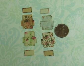 Dollhouse Miniature Eight Piece Floral Note Cards Set