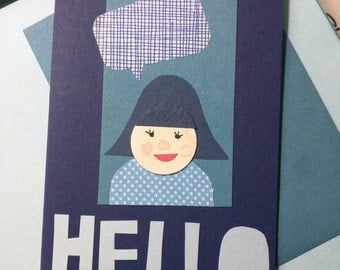 Hello Gal (Navy + Bluebell) // Cards For All Occasions