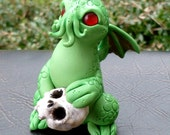Cutethulhu Skull Taker - Cthulhu Polymer Clay Sculpture