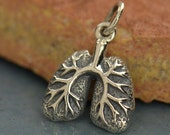 Sterling silver anatomically correct lungs