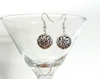 Silver Charm Earrings