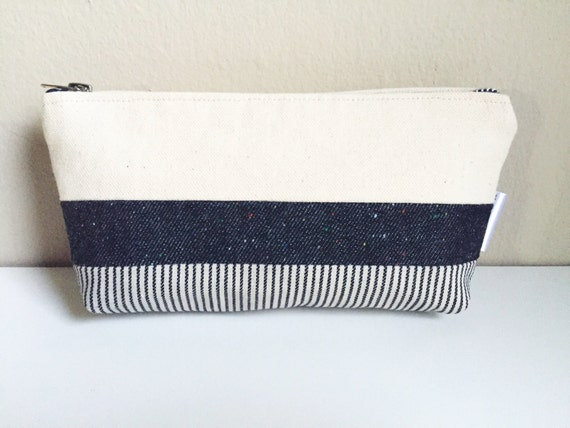 Canvas Toiletry Bag, Small Cosmetic Bag, Make-up Bag, Travel Bag, Canvas Bag, Canvas Makeup Bag