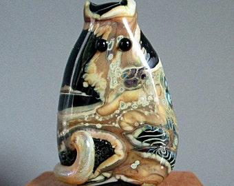 Galactic Cat Bead Handmade Lampwork Focal - Katrina FatCat