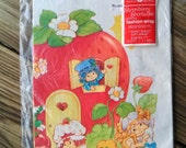 Vintage 1980s Gift Wrap Strawberry Shortcake Scented Wrapping Paper 1 Sheet 2016174