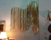 Retro Curtis Jere Wave Brass Wall Sculpture