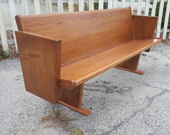 Mid Century Modern Style Wooden Bench Seat