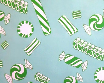 NEW peppermint twist candy wrapping paper