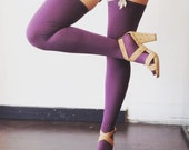 Thigh High Bamboo Stockings, Flint