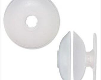 Huggy Spool® Pliable Plastic Cear 3-1/2 inch round 1pc
