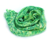 Handdyed Sock Blank, dotty bright green 4ply fingering superwash merino nylon sock wool for knitting or crochet, Perran Yarn, uk seller
